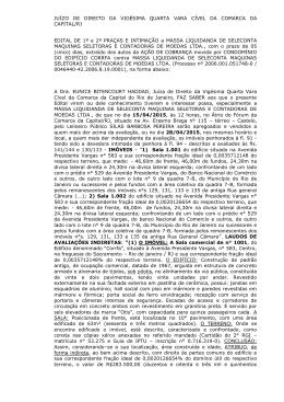juízo de direito da quarta vara cível da comarca da capital