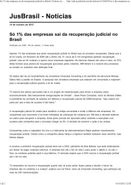 Só 1% das empresas sai da recuperação judicial no Brasil