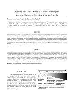 Paratireoidectomia – Atualização para o Nefrologista
