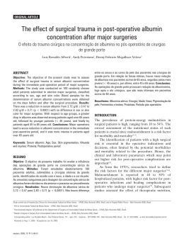The effect of surgical trauma in post-operative