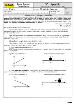 Apostila 03 - Gráficos de Movimento Uniforme
