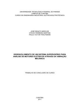 desenvolvimento de um sistema supervisório para análise de
