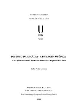 a paisagem utópica - Repositório da Universidade de Lisboa