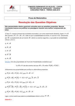 Matemática (Resplução
