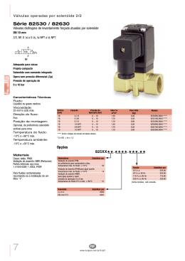 Válvula solenóide, Série 82530 / 82630