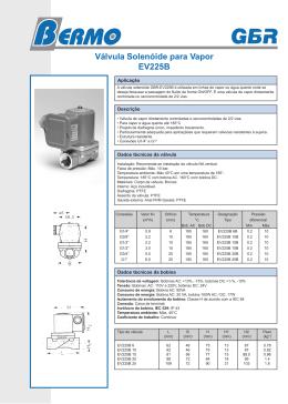Válvula Solenóide para Vapor EV225B