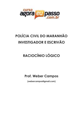 polícia civil do maranhão investigador e escrivão raciocínio lógico