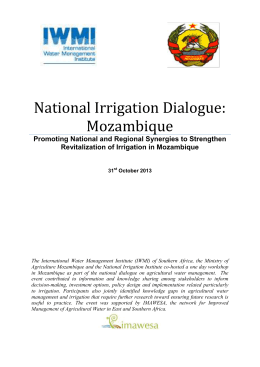 Mozambique Irrigation Dialogue_IMAWESA report