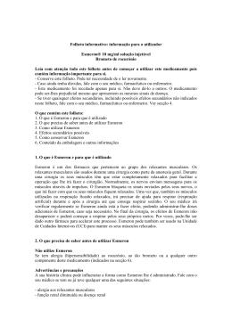 Folheto informativo: informação para o utilizador Esmeron® 10 mg
