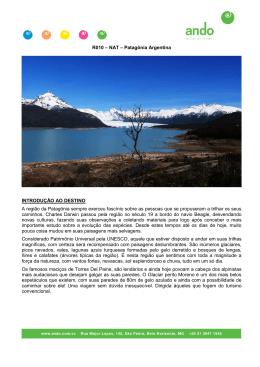 R010 – NAT – Patagônia Argentina INTRODUÇÃO AO