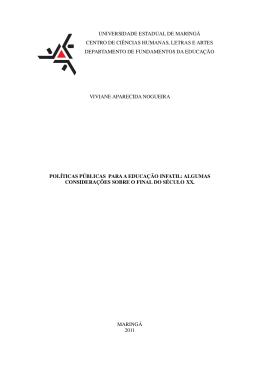 Políticas públicas educacionais brasileiras - DFE