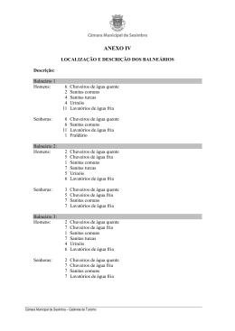ANEXO IV - Câmara Municipal de Sesimbra