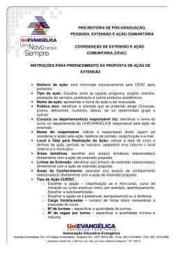 Instruções para preenchimento da proposta de