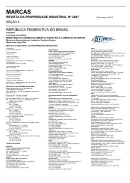 MARCAS - Revista da Propriedade Industrial
