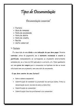 Tipos de Documentação
