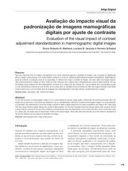 Avaliação do impacto visual da padronização de imagens