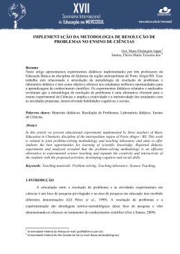 IMPLEMENTAÇÃO DA METODOLOGIA DE RESOLUÇÃO