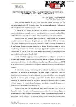 FORMAÇÃO PROFISSIONAL E - XIV Encontro Nacional de