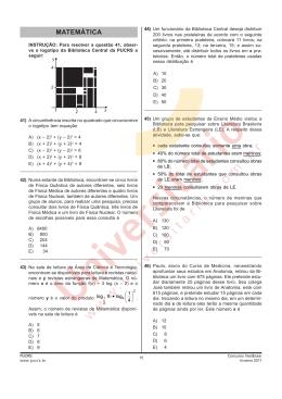 Prova PUCRS - Matemática