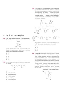 EXERCÍCIOS DE FIXAÇÃO - Prof. Lucas Siqueira