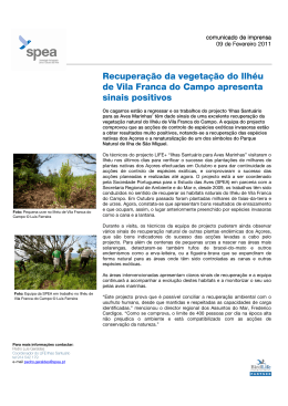 Recuperação da vegetação do Ilhéu de Vila Franca do