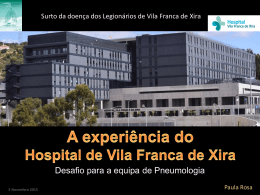 Surto da doença dos Legionários do Hospital de Vila Franca de Xira