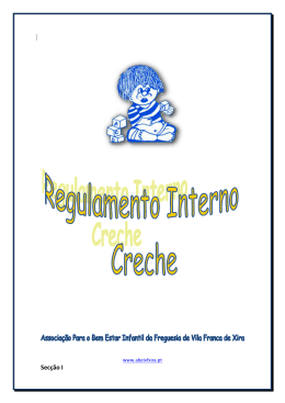 Regulamento Creche