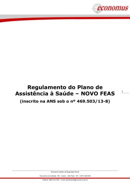 Regulamento do Plano de Assistência à Saúde