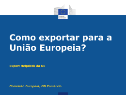 Export Helpdesk User Guide: Requirements and taxes (PT)