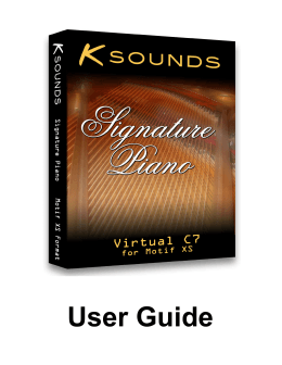 User Guide - K-Sounds Sound Libraries