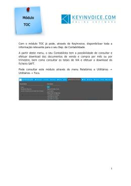 Módulo TOC - KeyInvoice