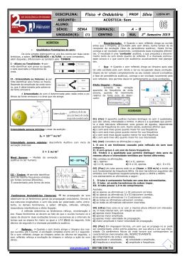 Física → Ondulatória PROF 1