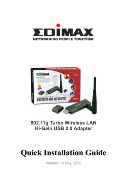 Quick Installation Guide for EW