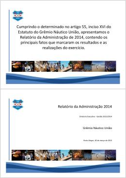 Baixar Relatório da Administração 2014