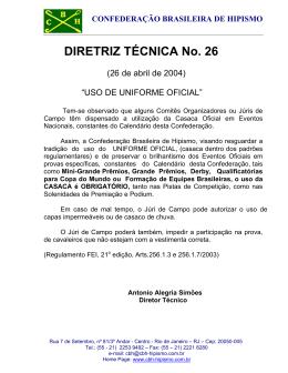 DIRETRIZ TÉCNICA No. 26