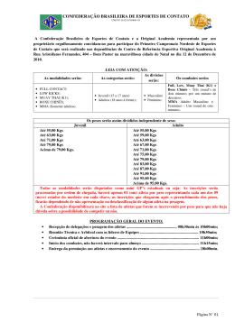 confederação brasileira de esportes de contato