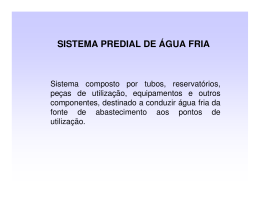 SISTEMA PREDIAL DE ÁGUA FRIA