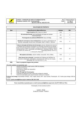 Item Especificação do Material/Serviços Unidade Ácido Clorídrico