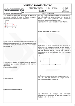 COLÉGIO PRIME CENTRO FÍSICA - Colégio Objetivo – Anápolis