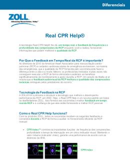 +Real CPR Help - um diferencial! Saiba mais!