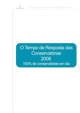 O Tempo de Resposta das Conservatórias 2008