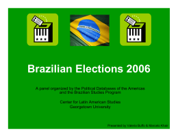 Brazilian Presidential Election 2006