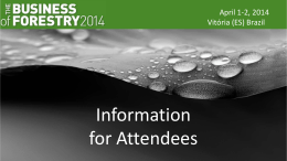 Information for Attendees - The Business of Forestry 2014