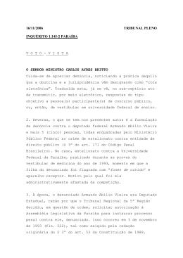 16/11/2006 TRIBUNAL PLENO INQUÉRITO 1.145