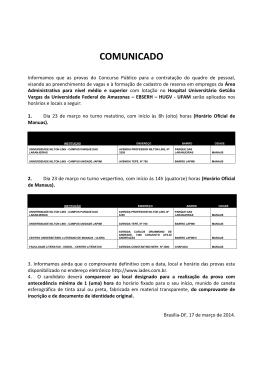 17/03/2014 - Comunicado - Locais de prova