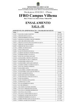 ENSALAMENTO – VILHENA – Assistente em Administração