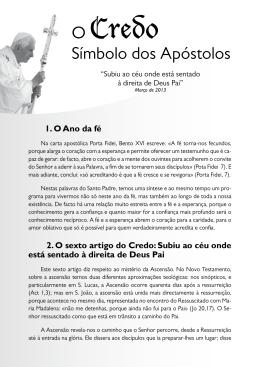 vi artigo do credo - Paróquia de São Nicolau