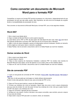 Como converter um documento do Microsoft Word para o