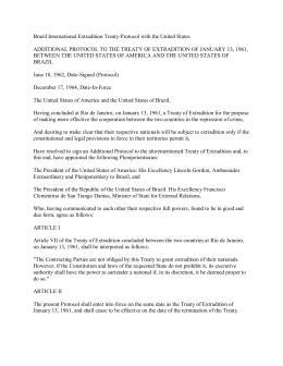 Brazil International Extradition Treaty