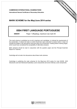 0504 FIRST LANGUAGE PORTUGUESE - Papers